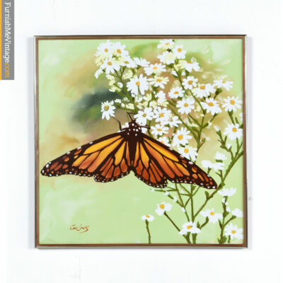 vintage collins butterfly painting