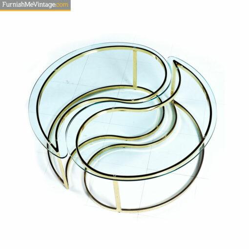 yin yang gold brass coffee table
