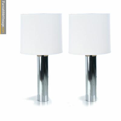 Artemide chrome cylinder lamps
