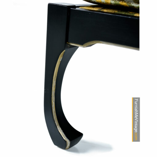 asian modern gilt lacquer arm chairs