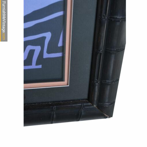 black faux bamboo frame