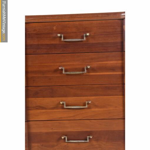 brass cherry chest of drawers