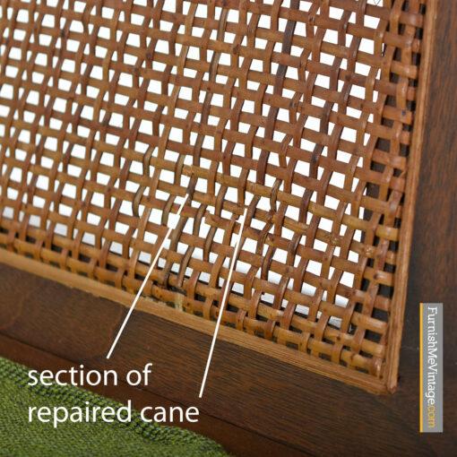 cane back danish modern lounge chairs