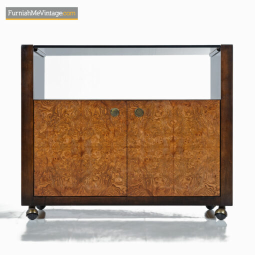 century furniture burl brass server