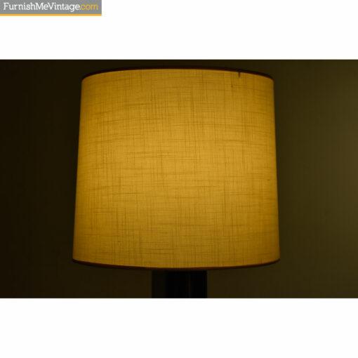cream woven lamp shade