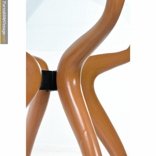 glass wood modern table