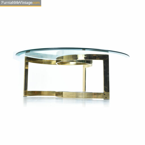 gold spiral coffee table
