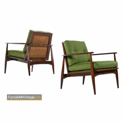 horseshoe mid century modern lounge chairs