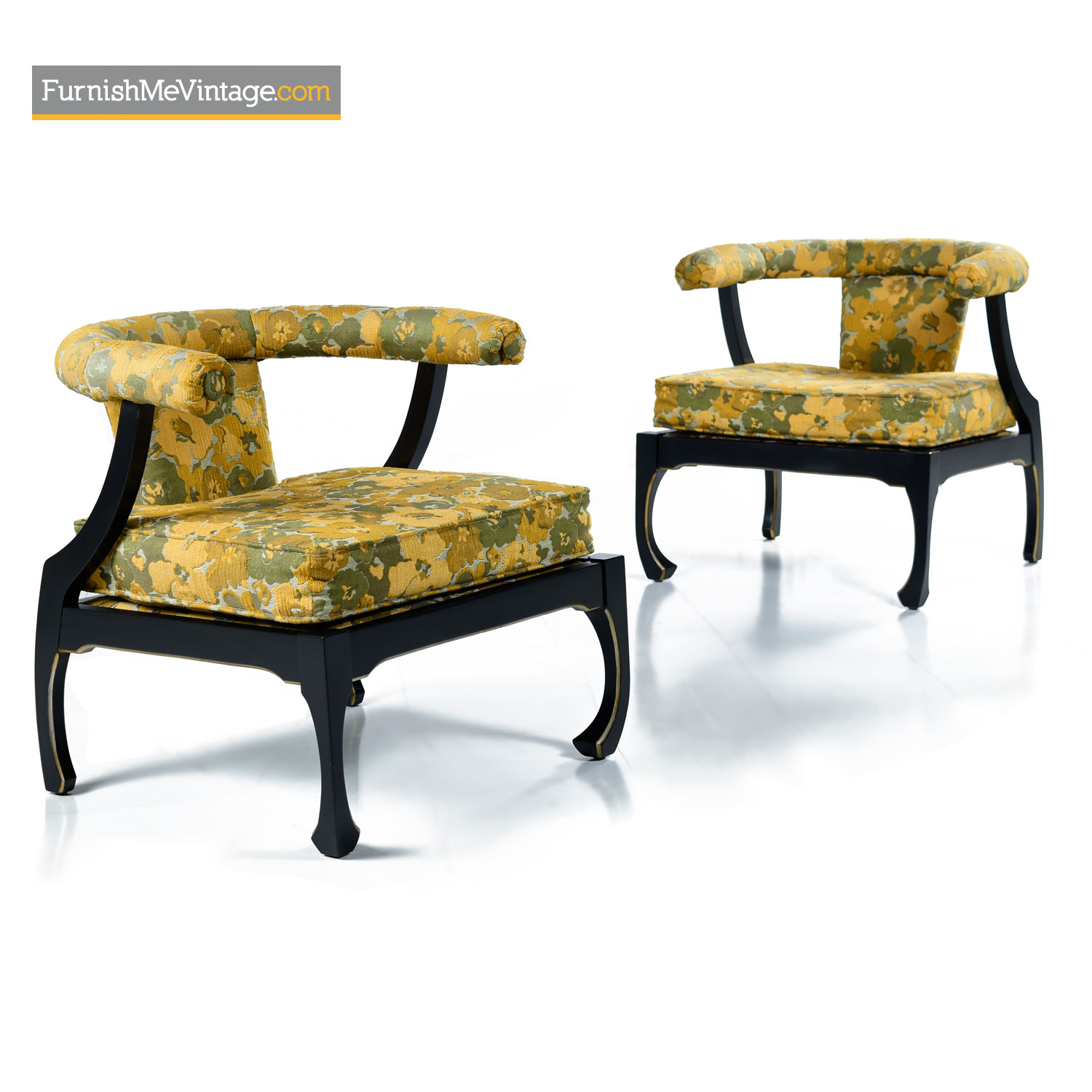 Magnificent James Mont Style Black Lacquer Asian Modern Chinoiserie Ming Chairs Spiritservingveterans Wood Chair Design Ideas Spiritservingveteransorg