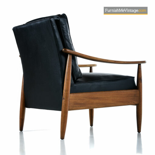 lounge chairs mcm black leather