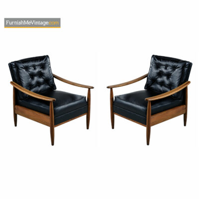 mcm leather lounge chairs