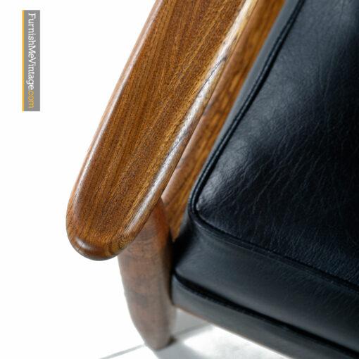 mcm walnut lounge chairs