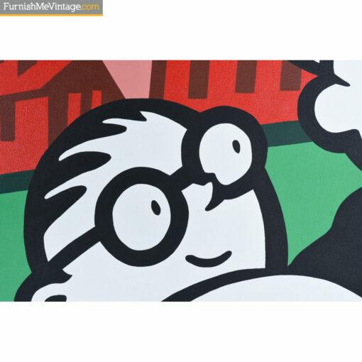 monopoly man acrylic painting