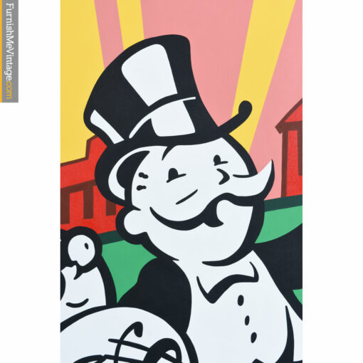 monopoly man pop art painting