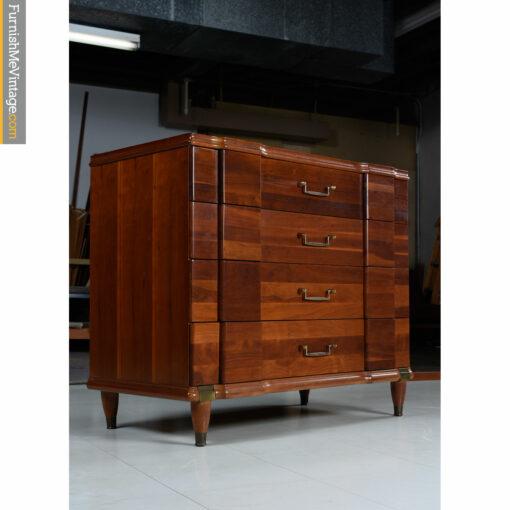vintage cherry brass dresser-chest