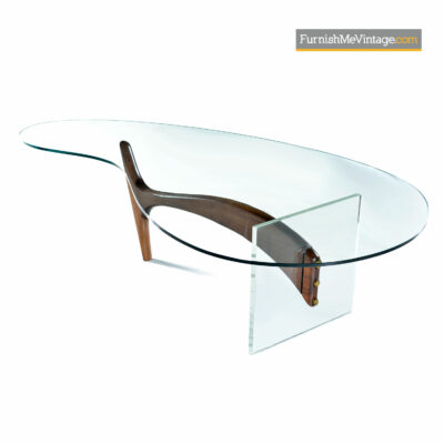 vladimir kagan walnut coffee table
