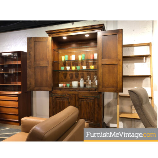 antique henredon bar cabinet