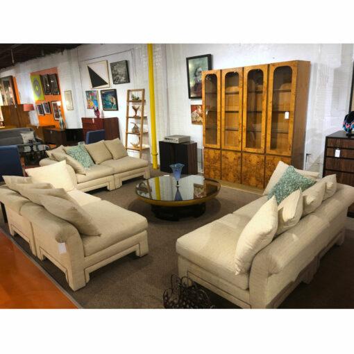 drexel asian modern sectional sofa