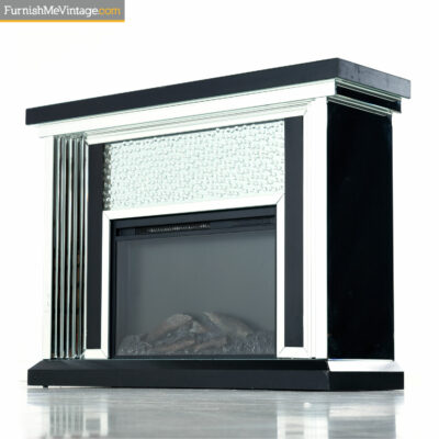 mirror crystal fireplace