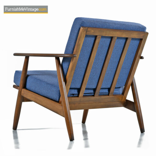 walnut lounge chair mcm