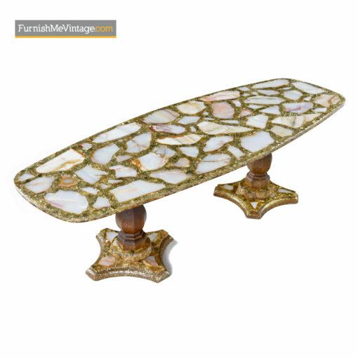 Arturo Pani onyx abalone coffee table