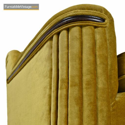 art deco mahogany sofa