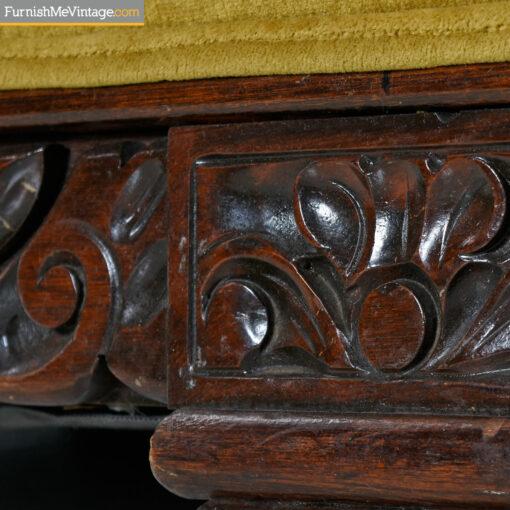 art deco velvet sofa