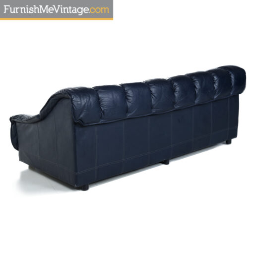 blue leather desede sofa