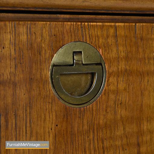 brass accent campaign chest dresser