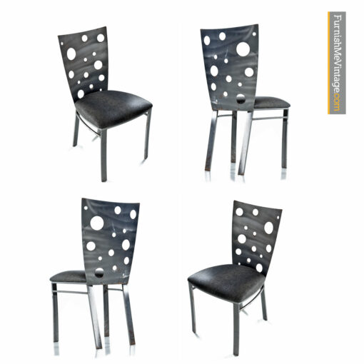 brutalist torch cut dining chairs