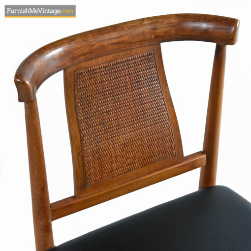cane back walnut dining chairs