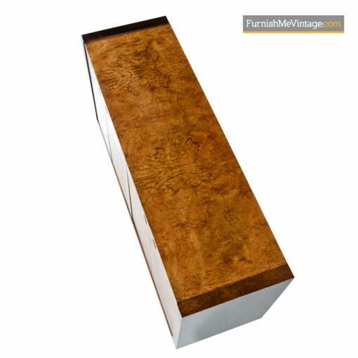 century burl wood credenza sideboard