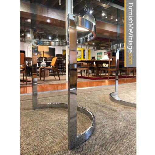 chrome table pedestal