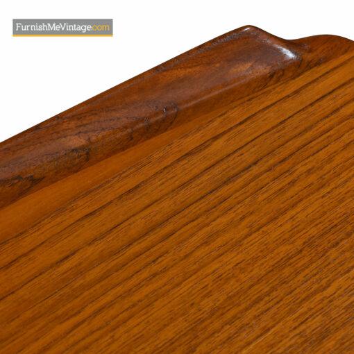 curved top danish teak desk
