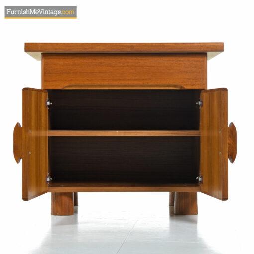 danish modern bedside table