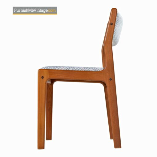 danish modern solid teak dining chairs