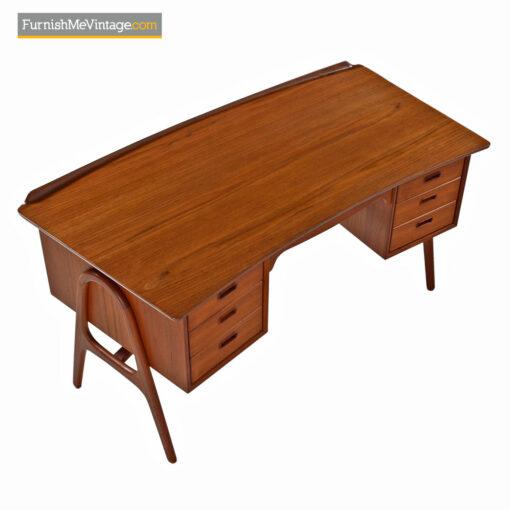 danish teak bookshelf desk