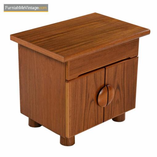danish teak end table nightstand