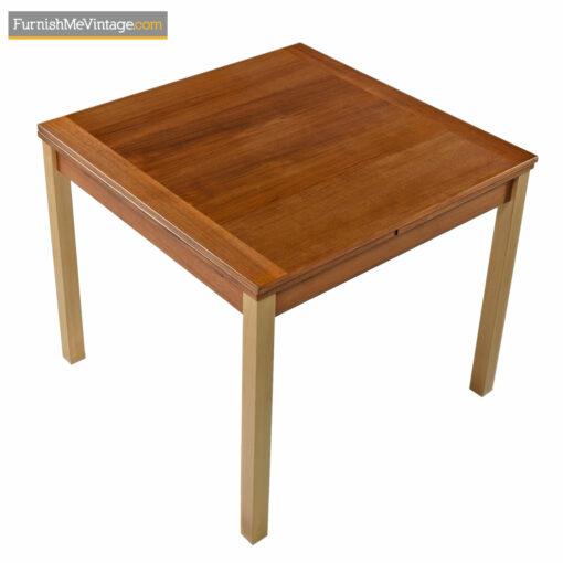 danish teak expanding dining table