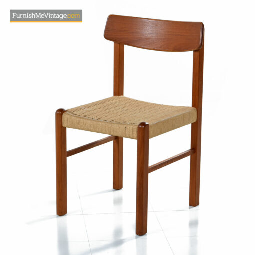 danish teak rope chairs