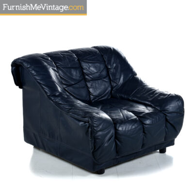 desede blue leather chair