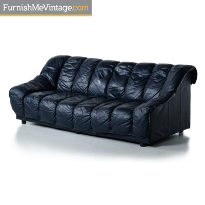 Desede Blue Leather Sofa