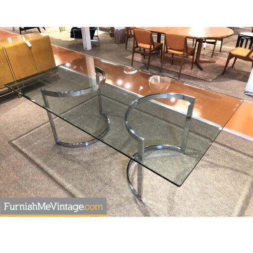 dia chrome glass dining table