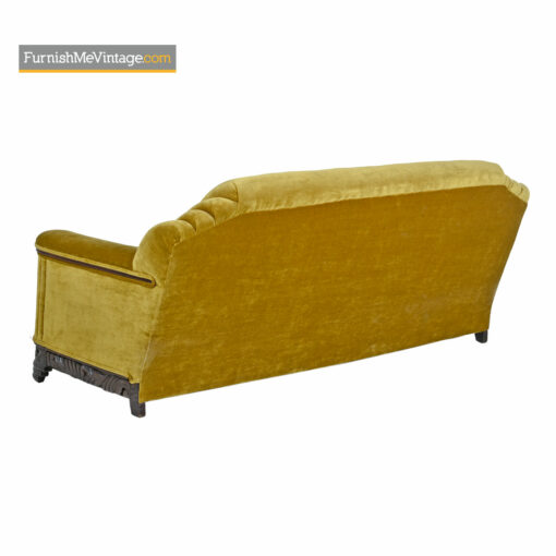 gold mohair art deco couch