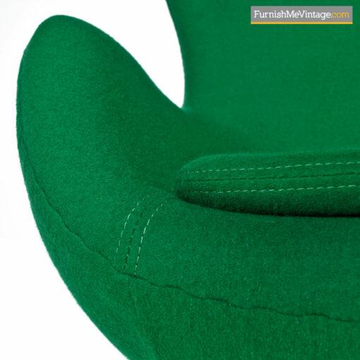 green wool arne jacobsen egg chair