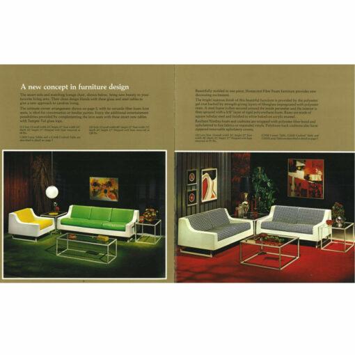 Homecrest Fiberglass Sofa