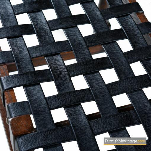 leather strap bench gothic oak