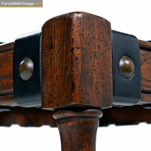 leather strap ottomans