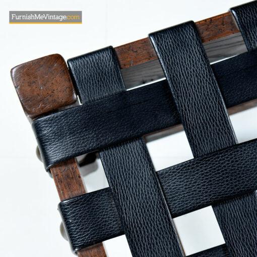 leather strap ottomans gothic oak