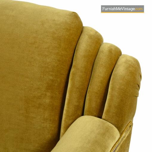 mahogany mohair art deco sofa
